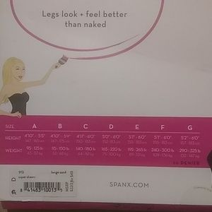SPANX Accessories - Spanx SHEERS super shaping size D/E/ beige sand